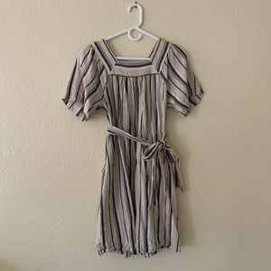GAP stripe linen blend knee length dress.